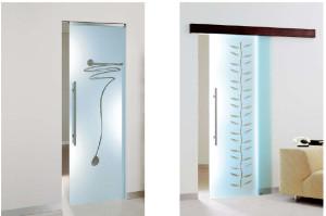 врата от стъкло с плъзгащ механизъм